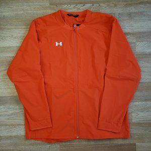 UA Storm Water Resistant Orange Full Zip Jacket